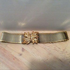 Vintage metal snake belt